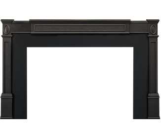 Cast Iron Trim on Black Metal Surround