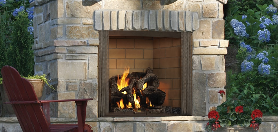Castlewood Wood Fireplace with standard screen