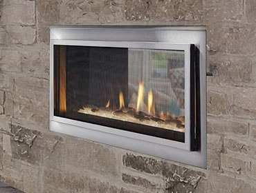 Mezzanine See-Through Gas Fireplace