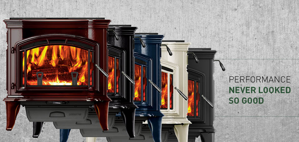 Explorer III Wood Stove available in a variety of color finishes