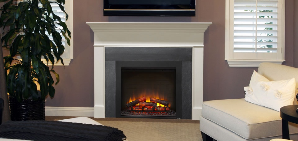 SimpliFire 36-inch Built-In shown with a custom surround