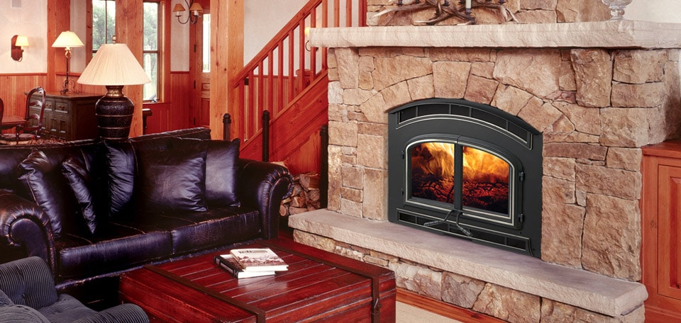 7100 Wood Fireplace with Rolling Meadows front