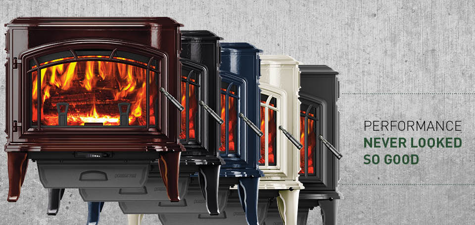 Explorer II Wood Stove available in a variety of color finishes