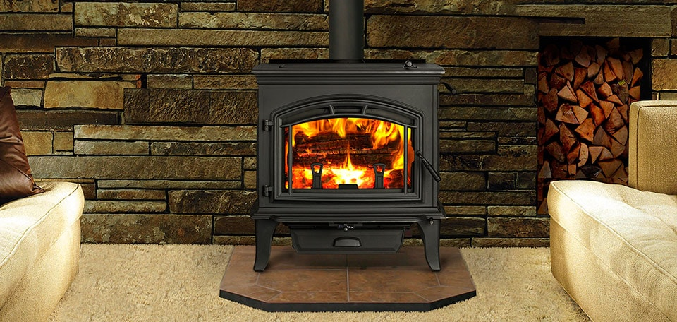 Explorer III Wood Stove shown in classic black