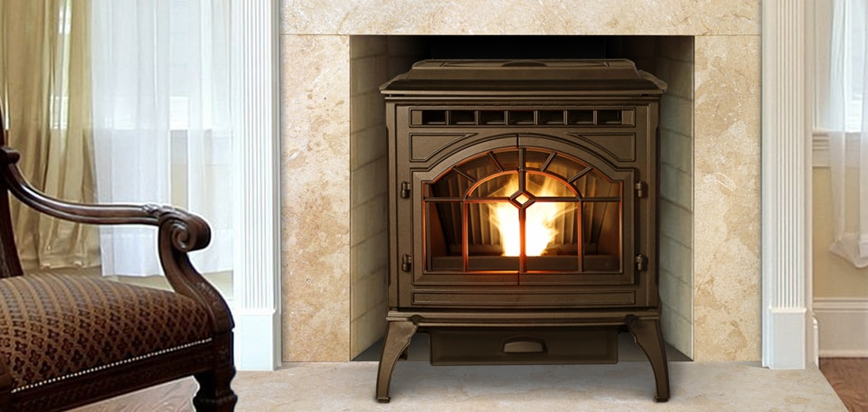 Mt. Vernon AE Pellet Stove in sienna bronze finish
