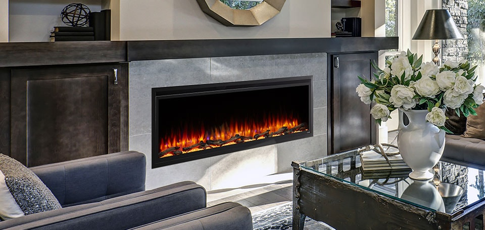 SimpliFire Allusion Platinum Electric Fireplace